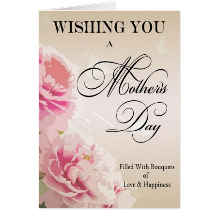 Mother's Day Peonies Mother's Day Card