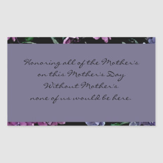 Mother's Day Personalized Floral Gifts Rectangular Sticker