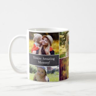 Mother's day, Personalized, Photo collage Coffee Mug