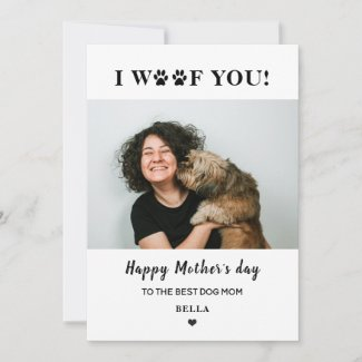 mother's day pet dog mom photo cute heart holiday card