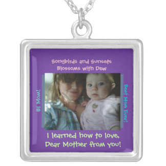 Mother's day photo necklace