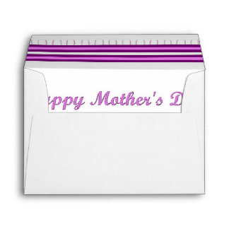 Mother's Day Pink and Golden Star A7 Envelope