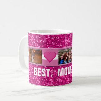 Mother's Day Pink | Custom 3 Photos Collage Coffee Mug