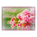 Mother's Day pink floral Cards