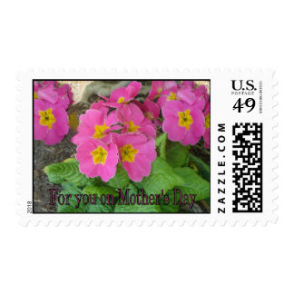 Mother's Day Pink flowers Postage