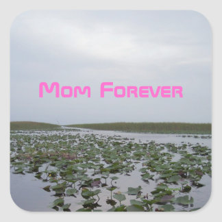 Mothers Day Pink Mom Forever Water Lilies Sticker