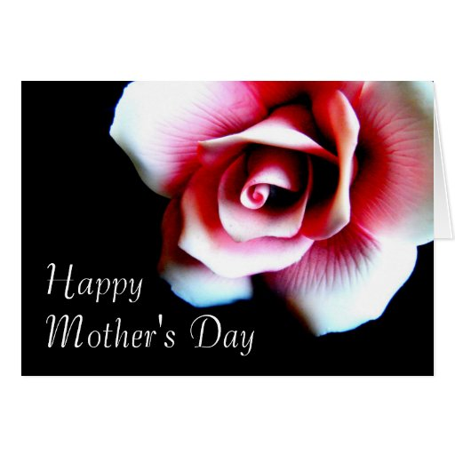 Mother's Day Pink Rose Greeting Card