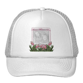 Mothers Day - Pink Tulips - Add Your Own Photo Trucker Hat