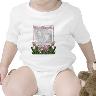 Mothers Day - Pink Tulips - Add Your Own Photo Shirts