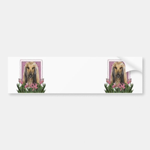 Mothers Day - Pink Tulips - Afghan Bumper Sticker