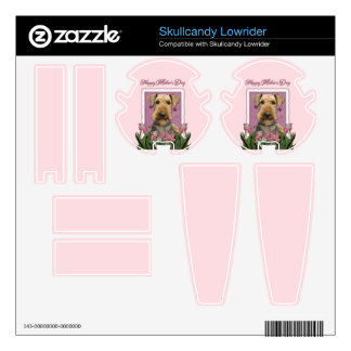 Mothers Day - Pink Tulips - Airedale Decal For Skullcandy