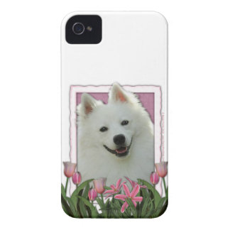 Mothers Day - Pink Tulips - American Eskimo Case-Mate iPhone 4 Case