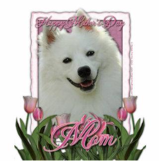 Mothers Day - Pink Tulips - American Eskimo Cutout