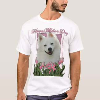 Mothers Day - Pink Tulips - American Eskimo T-Shirt