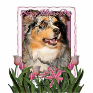 Mothers Day - Pink Tulips - Aussie - Gustine Cutout