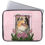 Mothers Day - Pink Tulips - Aussie - Gustine Laptop Sleeve