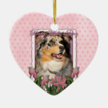 Mothers Day - Pink Tulips - Aussie - Gustine Christmas Tree Ornament
