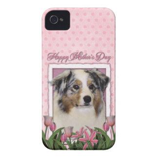 Mothers Day - Pink Tulips - Australia Shepherd iPhone 4 Covers