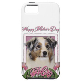 Mothers Day - Pink Tulips - Australia Shepherd iPhone SE/5/5s Case