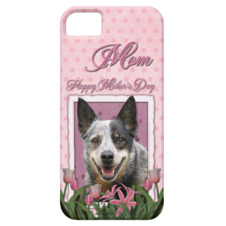 Mothers Day - Pink Tulips - Australian Cattle Dog iPhone 5 Covers