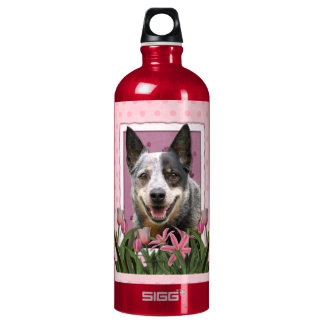 Mothers Day - Pink Tulips - Australian Cattle Dog SIGG Traveler 1.0L Water Bottle