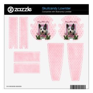 Mothers Day - Pink Tulips - Australian Cattle Dog Skullcandy Skin