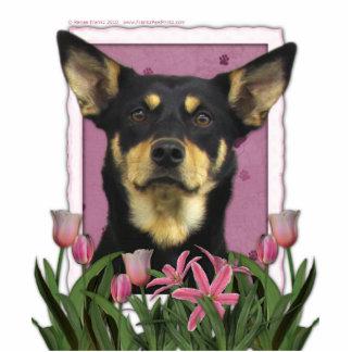 Mothers Day - Pink Tulips - Australian Kelpie Jude Cutout