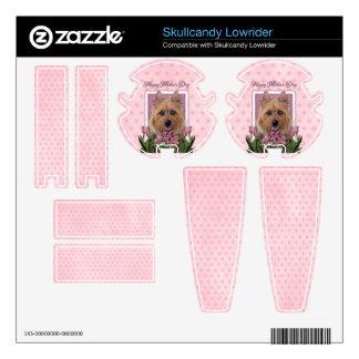 Mothers Day - Pink Tulips - Australian Terrier Decals For Skullcandy