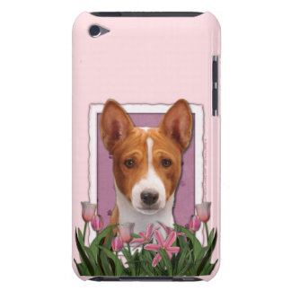 Mothers Day - Pink Tulips - Basenji Barely There iPod Case
