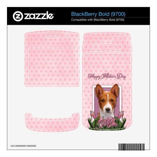 Mothers Day - Pink Tulips - Basenji Skins For BlackBerry Bold