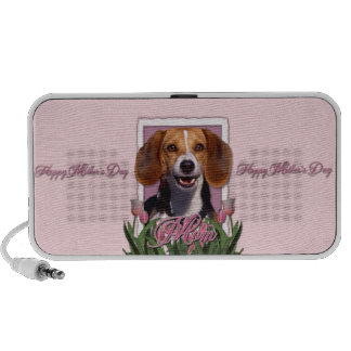 Mothers Day - Pink Tulips - Beagle Mini Speaker