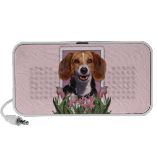 Mothers Day - Pink Tulips - Beagle Portable Speaker