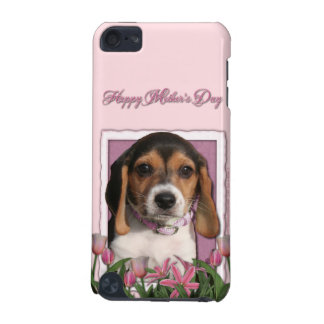 Mothers Day - Pink Tulips - Beagle Puppy iPod Touch (5th Generation) Covers