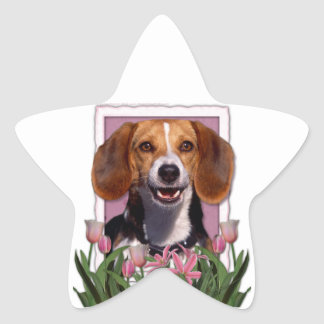 Mothers Day - Pink Tulips - Beagle Star Sticker