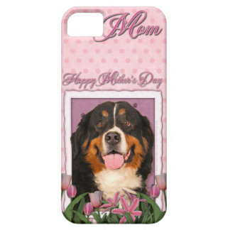 Mothers Day - Pink Tulips - Bernese Mountain Dog iPhone SE/5/5s Case