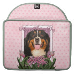 Mothers Day - Pink Tulips - Bernese Mountain Dog MacBook Pro Sleeve