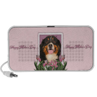 Mothers Day - Pink Tulips - Bernese Mountain Dog Speakers