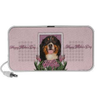 Mothers Day - Pink Tulips - Bernese Mountain Dog Mini Speaker
