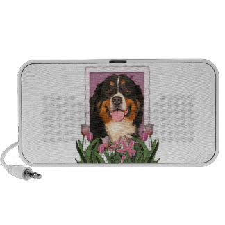 Mothers Day - Pink Tulips - Bernese Mountain Dog Notebook Speaker