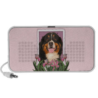 Mothers Day - Pink Tulips - Bernese Mountain Dog Speaker System