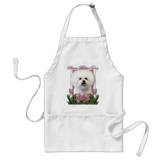Mothers Day - Pink Tulips - Bichon Frise Adult Apron