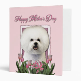 Mothers Day - Pink Tulips - Bichon Frise Binder