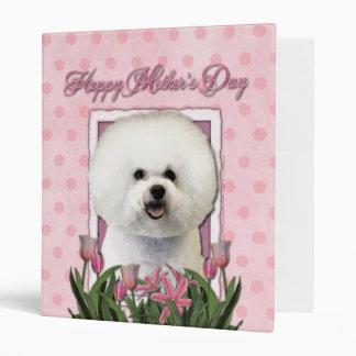 Mothers Day - Pink Tulips - Bichon Frise Binder