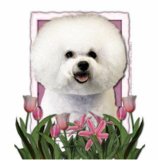 Mothers Day - Pink Tulips - Bichon Frise Cutout