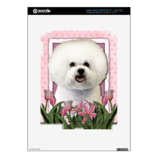 Mothers Day - Pink Tulips - Bichon Frise Decal For iPad 3
