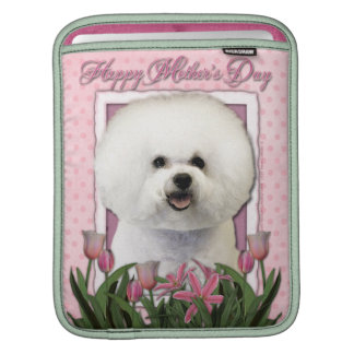 Mothers Day - Pink Tulips - Bichon Frise iPad Sleeve