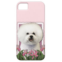 Mothers Day - Pink Tulips - Bichon Frise iPhone SE/5/5s Case