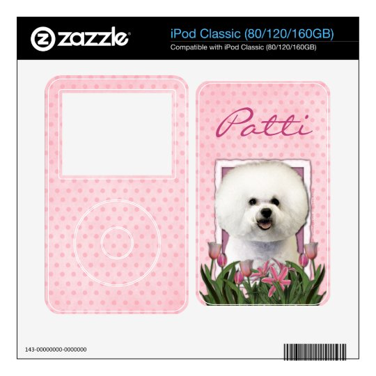 Mothers Day - Pink Tulips - Bichon Frise iPod Classic Skin
