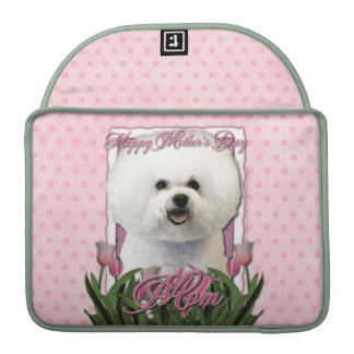 Mothers Day - Pink Tulips - Bichon Frise Sleeves For MacBooks
