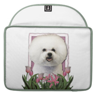 Mothers Day - Pink Tulips - Bichon Frise MacBook Pro Sleeve